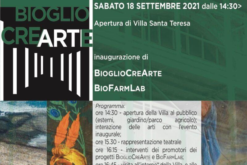 Appuntamento sabato 18 settembre 2021 per l'inaugurazione di Villa Santa Teresa a Bioglio